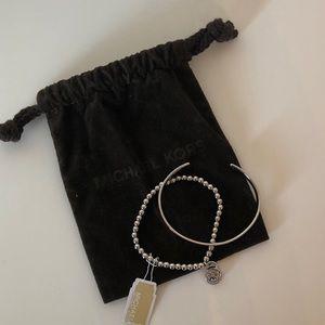 NWT Michael Kors silver bracelets (2)